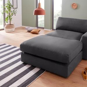 Sit&more Recamiere, grau, Inkl. Rückenkissen, hoher Sitzkomfort