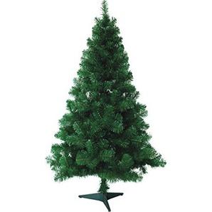 HG® 120cm Grün Weihnachtsbaum Tannenbaum Tanne Zweige Dekobaum mit Metallständer natur schwer entflammbar sehr schneller Aufbau mit Klappsystem Premium Spritzguss Qualität