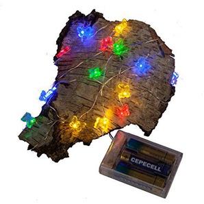 LED Draht Micro Lichterkette 20 LED bunte Schmetterlinge biegsam für Innen ca. 2 Meter lang 0,38 m Zuleitung