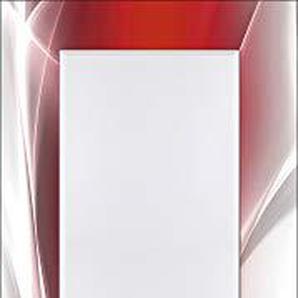 Artland Qualitätsspiegel I Spiegel Wandspiegel Deko Rahmen mit Motiv 50 x 140 cm Abstrakte Motive Gegenstandslos Digitale Kunst Rot G5RO Kreatives Element Rot für Ihr Art-Design