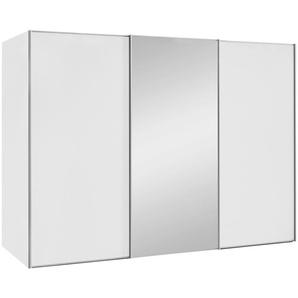Moderano: Schwebetürenschrank, Holzwerkstoff, Weiß, B/H/T 280 222 68