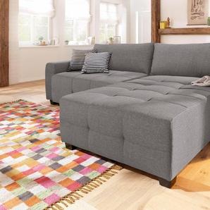 Home Affaire Ecksofa ohne Bettfunktion, grau, hoher Sitzkomfort