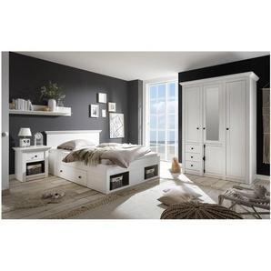 JUSTyou Liliann Schlafzimmerset Schlafzimmerkombination Schlafzimmer Komplett Weiß