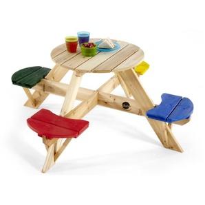 Plum Kinder Picknicktisch rund mit farbigen Sitzen - AUTHENTIC SPORTS & TOYS