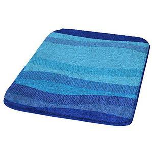 Kleine Wolke Miami Badteppich WC Polyacryl 50x 50cm, blau, 40x30x10 cm