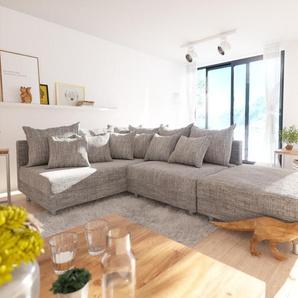 Ecksofa Clovis Hellgrau Strukturstoff Hocker Ottomane Links Modulsofa, Design Ecksofas, Couch Loft, Modulsofa, modular
