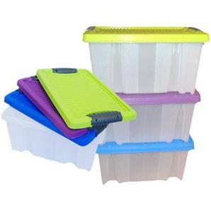 LS Design 3 Stapelboxen Allzweckkiste stapelbar Deckel Allzweckbox Box Kiste Aufbewahrungsbox Kunststoffbox 30x19,5x14cm