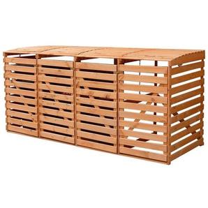 PROMADINO Mülltonnenbox , für 4x240 l aus Holz, B/T/H: 268/92/122 cm