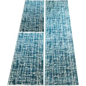 Carpet City Bettumrandung   »Showtime«, 14 (2x Brücke 150x80 cm & 1x Läufer 300x80 cm), 10 mm Gesamthöhe, blau