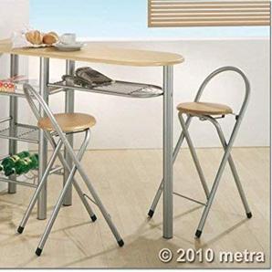 Merschbrock Trade GmbH Küchenbar mit 2 Stühlen, Holz