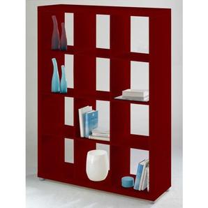 Raumteiler CASSY Lack Rot matt Nachbildung ca. 117 x 157 x 35 cm
