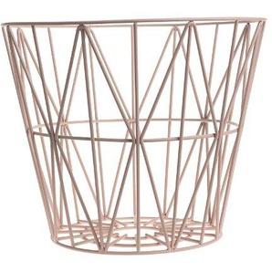 ferm LIVING - Wire Basket Korb - S - rose - indoor