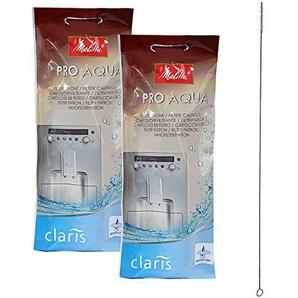 2 x MELITTA PRO AQUA Wasserfilter + QUVIDO Reinigungsbürste