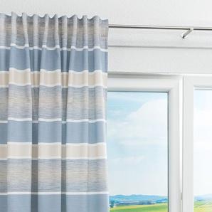 Vorhang von LYSEL® Esin Gestreift in den Maßen Breite: 146cm Höhe: 245cm in Blau/blaugrau