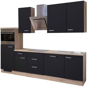 Küchenzeile mit E-Geräten »Antigua«, Gesamtbreite 280 cm