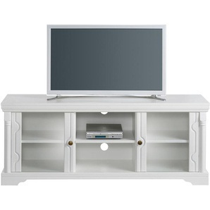 TV-Lowboard Home affaire »Vilma« Breite 129 cm, weiß, Gr. onesize, HOME AFFAIRE, Material: Metall, Holz