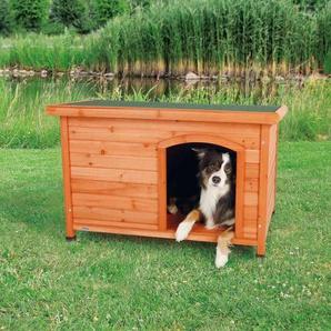 TRIXIE natura Hundehütte Classic mit Flachdach M-L 104x68x72cm braun