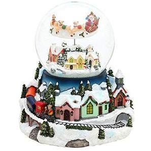 Unbekannt Sigro groß Snow Globe mit Eisenbahn, 18x 15,5x 20cm, Mehrfarbig