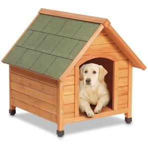 Karlie-Hundehaus - Naturfarben - Massivholz -