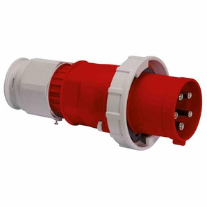 BALS MULTI-GRIP CEE-Stecker, 5p, 125A, IP67, 400V (50+60Hz) rot, 6h, Schraubklemme, gerade, Kunststoff, Verschraubung
