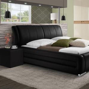 Luxusbett mit Kunstlederbezug Petersfield - 180x200 cm - schwarz