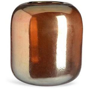 Vase, Glas, D:21cm x H:22cm, gold