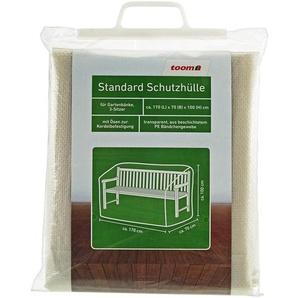Standard Schutzhülle für Gartenbänke PE-Bändchengewebe transparent 170 x 70 x 100 cm