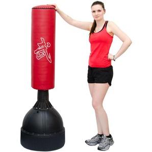 160 cm Standboxsack Box Punching Bag Standfuß PU Boxsack Stehend Boxständer Rot - EYEPOWER