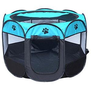 Sunlera Das bewegliche Falten Haustier-Zelt-Dog House Cage Haus Hund Katze Zelt Zaun Welpe Kenneles Außen Bett