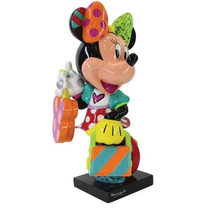 DISNEY by Romero BRITTO Deko Figur MINNIE MIT KOFFER 15 cm