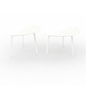 Couchtisch Weiß - Eleganter Sofatisch: Beste Qualität, einzigartiges Design - 67/67 x 47/44 x 50/50 cm, Konfigurator