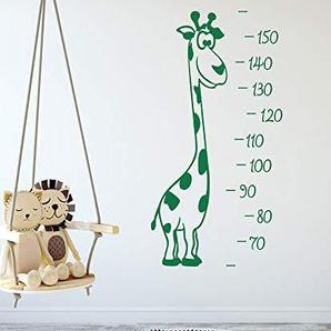 GRAZDesign Wachstumsmesser Kinderzimmer Messlatte Kind Maßband - Messleiste als Wandaufkleber Geschenk zur Geburt Geburtstag - Wandtattoo Mädchen Giraffe / 100x57cm / 300251_100x57_WT074