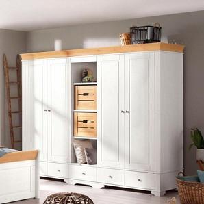 Home affaire Kleiderschrank »Lotta« wahlweise 2-, 3-, 4-, oder 5-geteilt, in 2 Farben