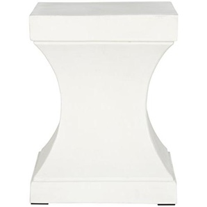Safavieh Heidy Innen/Außen Beton Hocker, Pulver Stein, Ivory,34 X 34 X 43.94 cm