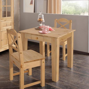 Home affaire Essgruppe , Tisch 80cm breit + 2 Stühle, »Vanda«, FSC®-zertifiziert