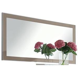 Spiegel SANTINA Glasrahmen Taupe ca. 120 x 60 cm