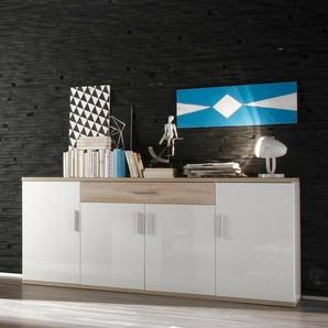 Trendteam Sideboard »Arena«, weiß, pflegeleichte Oberfläche