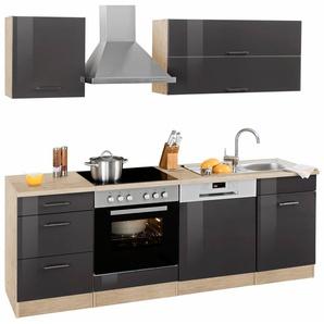 HELD MÖBEL Küchenzeile »Graz« ohne E-Geräte, Breite 220 cm