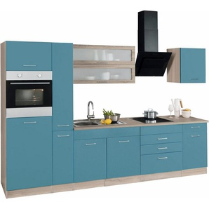 HELD MÖBEL Küchenzeile ohne E-Geräte »Utah«, Breite 320 cm, blau