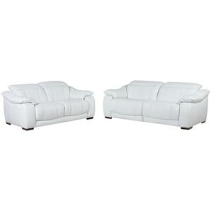 Leder-Sitzgruppe mit elektrischer Funktion weiß - Leder Unika ¦ weiß Polstermöbel  Sofas  Sitzgruppen » Höffner