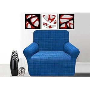 Elastische Sofahusse, Sofaschutzbezug Granada Poltrona blau