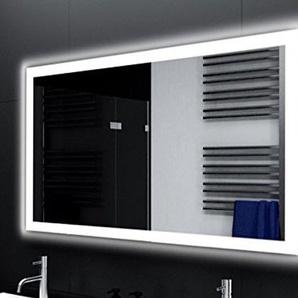 Badspiegel Designo MA4110 mit A++ LED Beleuchtung - (B) 40 cm x (H) 40 cm - Made in Germany - Technik 2019 Badezimmerspiegel Wandspiegel Lichtspiegel TIEFPREIS rundherum beleuchtet Bad Licht Spiegel