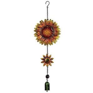 Sunset Vista Designs Metall und Glas Sonnenblume zum Aufhängen Dekoration