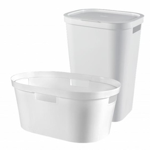 Curver 2er Set Infinity Wäschebox 60L & Korb 40L, weiß