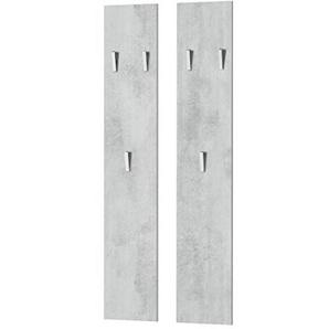 Vladon Wandpaneel Garderobenpaneel 140 in Beton Oxid Optik