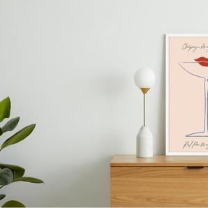 Vintage Champagne Coupe gerahmter Kunstdruck (A2), Mehrfarbig