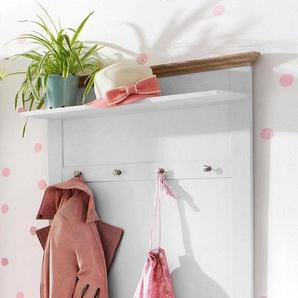 Home affaire Garderobenpaneel »Binz« aus massivem Eichenholz, weiß