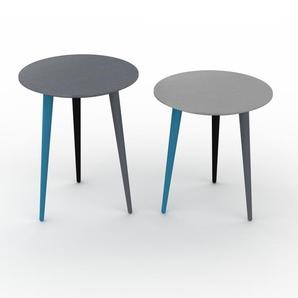 Couchtisch Grau - Eleganter Sofatisch: Beste Qualität, einzigartiges Design - 40/40 x 50/44 x 40/40 cm, Konfigurator