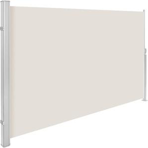 Aluminium Seitenmarkise beige 160 x 300 cm