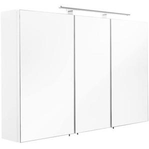 Spiegelschrank 110x68x16cm mit LED Leuchte weiß matt